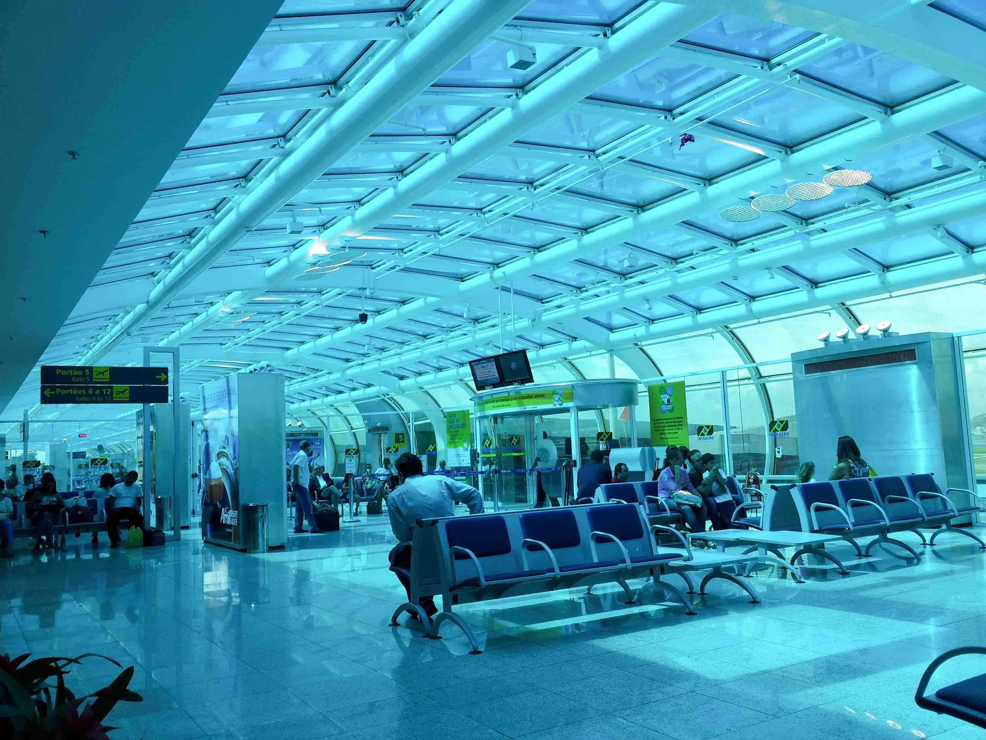 Aeroporto Rio De Janeiro : Portão de embarque aeroporto santos dumont rio